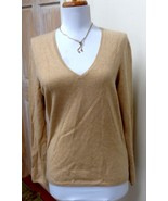 EUC - CHARTER CLUB Heather Camel 100% Cashmere V-Neck Sweater  Size M - $24.74