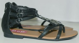 ELD 0386534 Pop Zora Zip Up Sandal Color Black Size 6M image 2