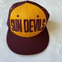 Arizona State Sun Devils Adidas SnapBack Adjustable Baseball Hat New With Tags - $18.80