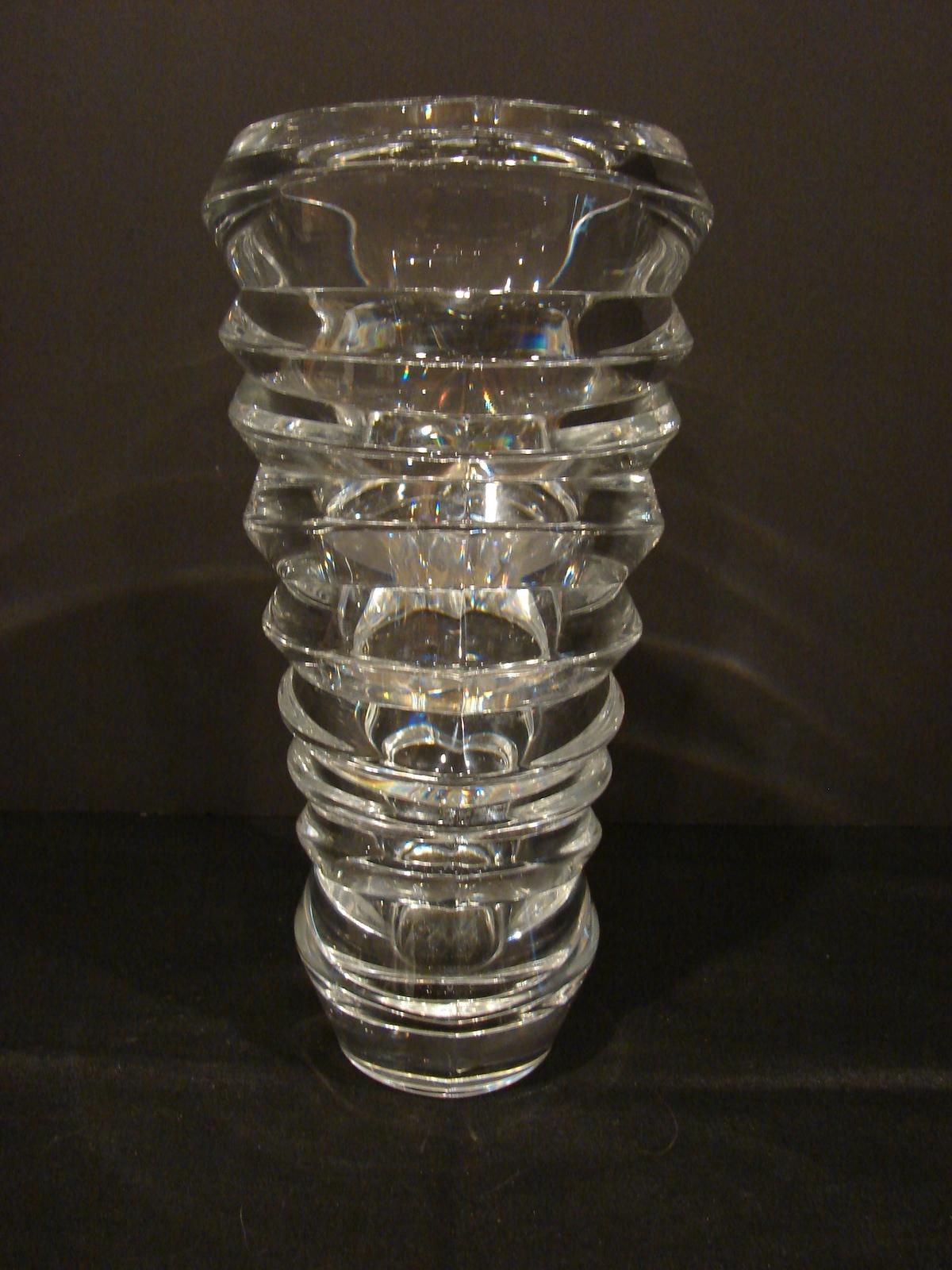 Modern Braginsky Crystal Slice Vase by Nachtmann
