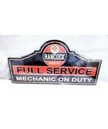 "26"" HUGE Hancock oil gas station mechanic arrow auto garage USA Steel Me... - $69.30"