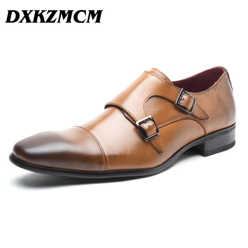 Primary image for Handmade Men Oxfords Genuine Leather Mens Comfortable Formal Shoes Black Brown P