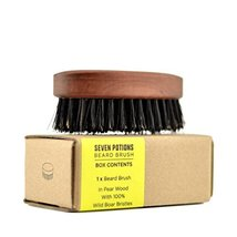Seven Potions Beard Brush For Men With 100% First Cut Boar Bristles. Made in Pea image 2