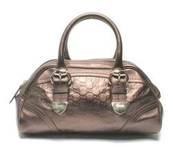 Auth Gucci Guccissima Hand Bag Brown Leather Zipper Inner Pocket Pouch G455 - $1,314.72