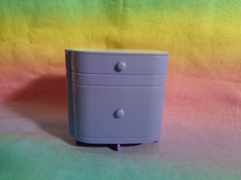 Spin Master 2011 Ever After Dollhouse Nightstand Lavender & White- as is scraped - $2.94
