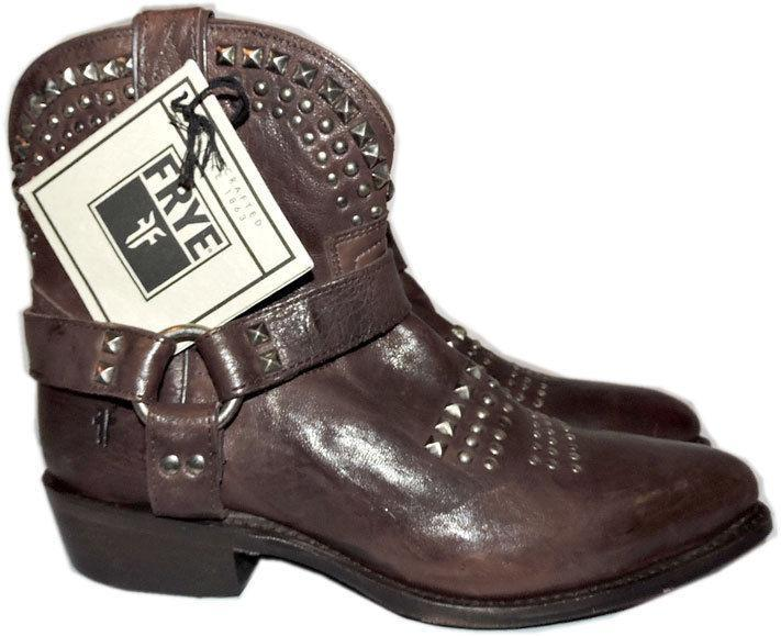 1b06ca59c31d 6270. 6270. Previous. Frye Women s Billy Biker Studded Leather Short  Harness Ankle Boots Booties 7.5