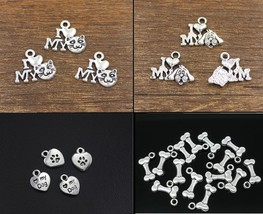 I Love My Dog Bone Bowl Rover Heart Paw Charms Pet Cat Jewelry Supplies ... - $2.22+