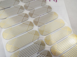 Jamberry Cool & Calculated 0916 4T81 Nail Wrap  Full Sheet - $12.61