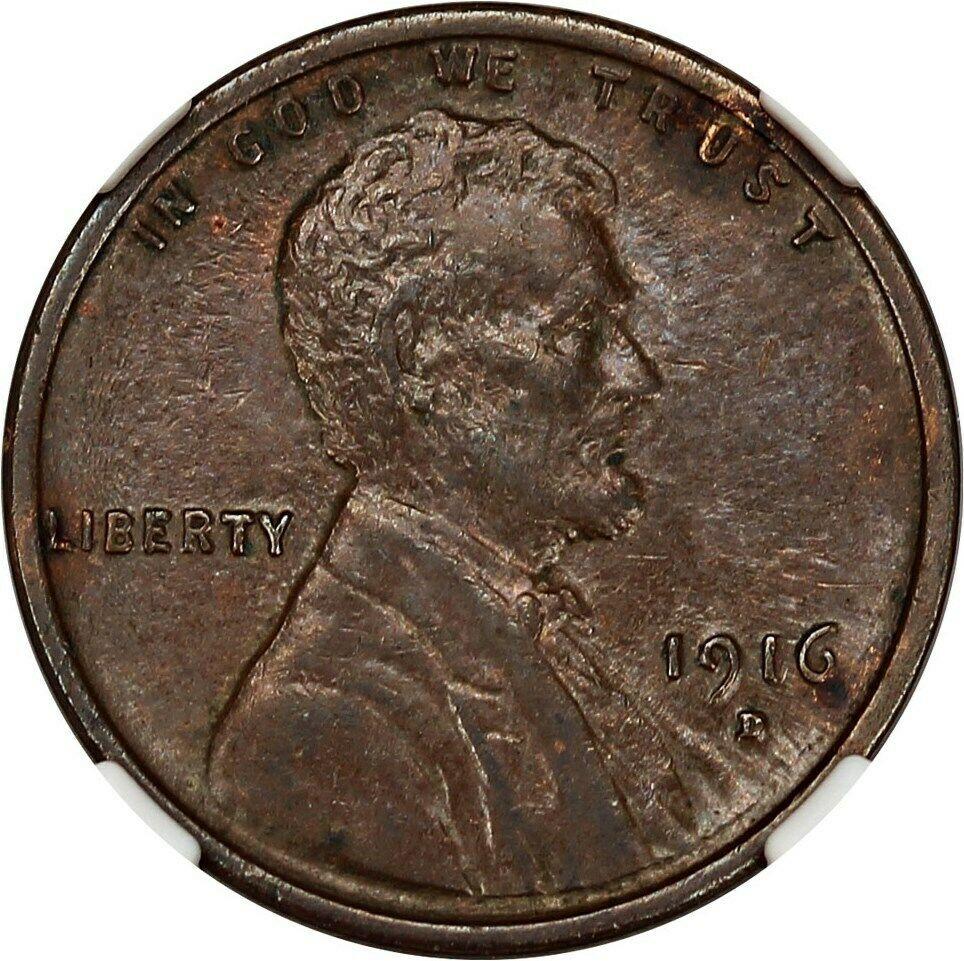 1916-D 1c NGC AU53 BN - Lincoln Cent