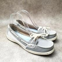 Liz Claiborne Womens 024-2169 Sz 9 M Gray Slip On Loafer Boat Shoes - $26.99