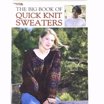The Big Book Of Quick Knit Sweaters Leisure Arts 3023 16 Sweater Patterns - $10.88