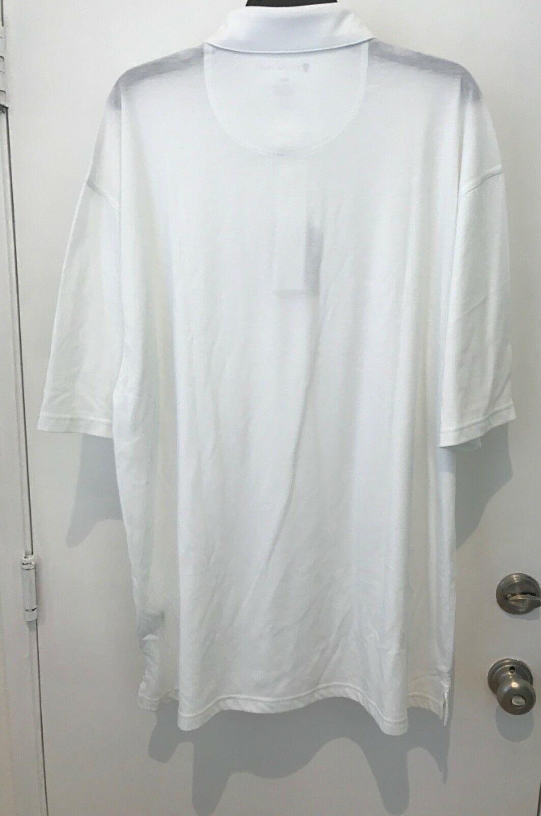 Oxford Golf Super Dry Cool Max Mens XXXL white Short Sleeve Polo Shirt NWT