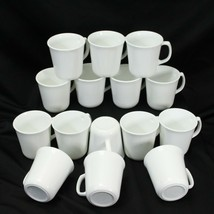 """Corning Corelle Winter Frost White Cups 3.5"""" Lot of 15 - $68.59"""