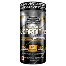 MuscleTech L-Carnitine Supplement, 500mg (L-carnitine 180 Count) - $24.45