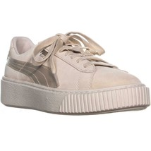 Puma Daim Plateforme Baskets à Lacets,Teinte Rose / Whipser Blanc / or,1... - $82.79