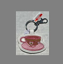 NWT Disney Parks Exclusive Tea Cup Party Key Ring Chain Clip Let's Go For A Spin - $9.89