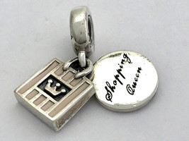Auténtico Pandora Compras Reina Charm, Esmalte Rosa, 791985EN40, Nuevo - $45.87
