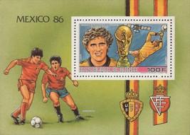 World Cup '86 Mexico Scifo Goicoetchea Souvenir Sheet MNH - $15.53