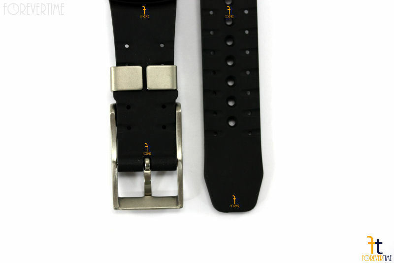 Citizen Eco-Drive BJ8044-01E Black Rubber Watch Band Strap w/ 4 Screws