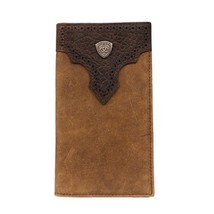 Ariat Rodeo Perforated Overlay Shield Wallet, Dressed Brown - $47.65