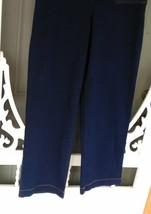 Denim & Company Elastic Waist Jeans Size LT Dark Blue image 1