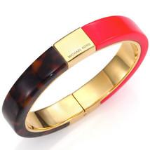 new MICHAEL KORS ladies Colorblocked BANGLE BRACELET MKJ5263710 Brown & Red - $68.21