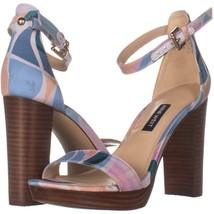 Nine West Dempsey2 Ankle Strap Sandals 353, Purple Multi, 6 US - $31.38