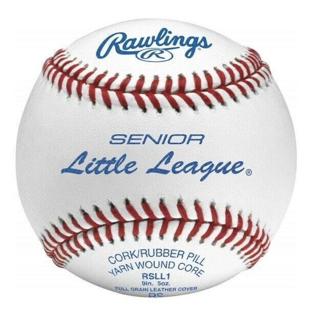 Primary image for (5) Senior Little League Competition Grade Baseballs Leather Official Game Balls