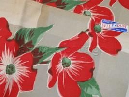LOT vintage UNUSED 2pc WILENDUR KITCHEN DISH TOWELS brown red floral mat... - $34.95