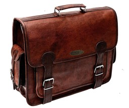 """Men's Genuine Brown Leather Messenger Shoulder Laptop Bag18""""x 14,Briefca... - $64.34"""