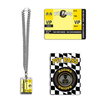 "Beistle Racing Pit Pass 25"" Lanyard with Card Holder - 12 Pack (1/Card) - $44.96"
