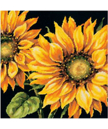 Dimensions Dramatic Sunflower Pillow Needlepoint Kit, 14x14 in, flowers,... - $41.99