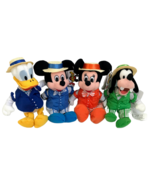 Disney Barbershop Quartet Plush Set Mickey Mouse Minnie Goofy Donald Mou... - $66.80