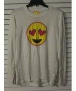 KIDS GIRLS So Nikki Long Sleeve Heart Eye Emoji Shirt Thumb Holes sz L 14  - $11.87
