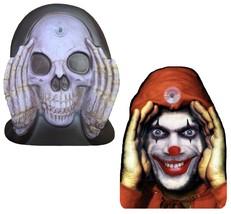 Halloween Window Decal Scary Clown Reaper Peeping Tom Shocking Pranks Co... - $22.44