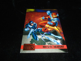 1995 DC Versus Marvel Fleer SkyBox Card #87 Bullseye Vs. Deadshot - $1.49