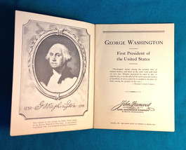 1933 GEORGE WASHINGTON JOHN HANCOCK LIFE INSURANCE COMPANY Booklet Adver... - $12.86