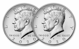 2020 -S proof, P, D & S SILVER PROOF Kennedy HALF All four coins. - $43.25