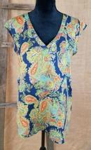 Daniel Rainn women S blouse semi sheer sleeveless shirt pullover - $17.82