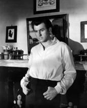 Stewart Granger 8x10 Photo in white shirt by fireplace - $7.99