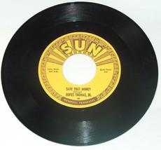 Vtg Rufus Thomas Jr Guardar That Money Tigre Man 45 RPM Sun Reedición Re... - $73.63