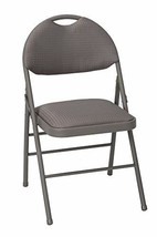 COSCO Commercial Comfort Back Fabric Folding Chair with Handle Hole, 4 P... - $200.80