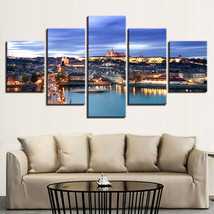 Prague Castle HD Print  5 Piece Canvas Art Wall Art Picture Home Decor - $22.80+