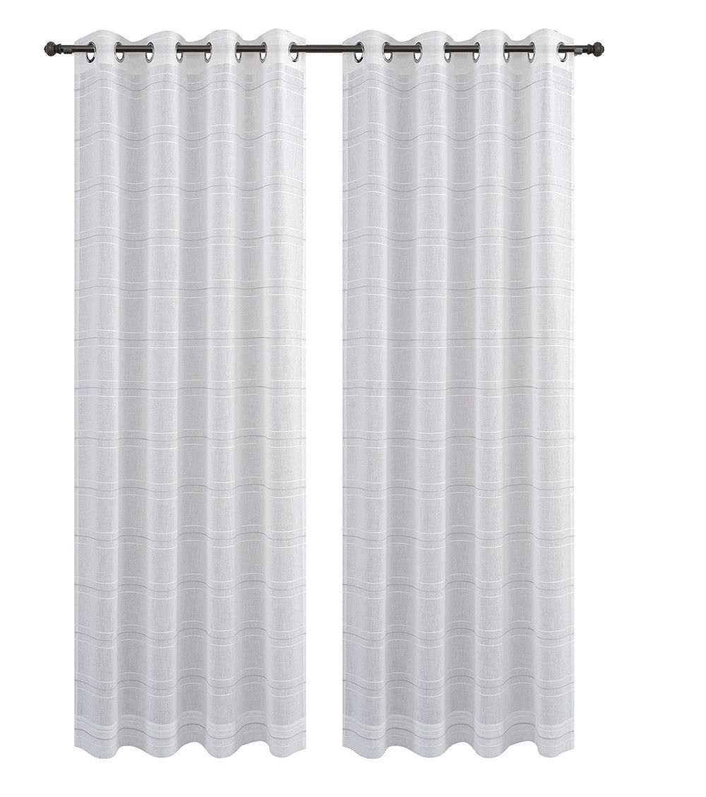 Urbanest Chamon Set of 2 Sheer Curtain Drapery Panels with Grommets