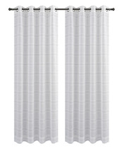 Urbanest Chamon Set of 2 Sheer Curtain Drapery Panels with Grommets image 1