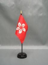"Hong Kong 4X6"" Table Top Flag W/ Base New Desk Top Handheld Stick Flag - $4.95"