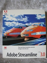 Adobe Streamline 3.0 For Mac Comes In Box With 3 Floppy Disks & User Book - $23.26