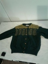 Vintage United Colors of Benetton Shetland Wool Sweater Green Womens (CB49) - $32.73