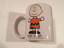 CHARLIE BROWN MUG COFFEE DRINKING RARE VINTAGE OLD PEANUTS  - $28.50