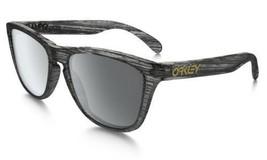 Oakley Sunglasses OO9013-B655 Frogskin Matte Clear Woodgrain Black - $89.09